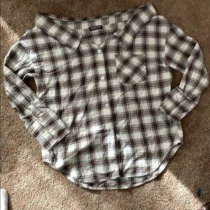 Fashion Nova Small off-the-shoulderbutton-up shirt